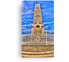 Lest We Forget - Kings Park Memorial Canvas Print
