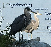 Great Blue Herons (with quote) by THurdCreations