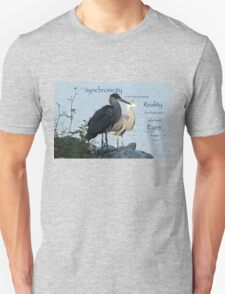 Great Blue Herons (with quote) Unisex T-Shirt