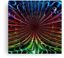 Peacock (Abstract) Canvas Print