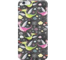 cheerful pattern of dragons iPhone Case/Skin