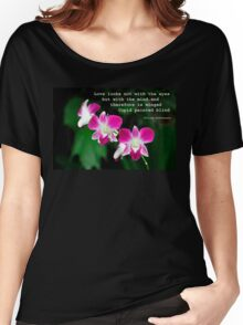 Orchids in Watercolour Quotation Women's Relaxed Fit T-Shirt