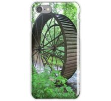 Giant mill wheel rolled off down the river iPhone Case/Skin