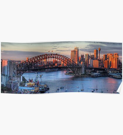 Light Camera Action (25 Exposure HDR Panorama)  - Sydney Harbour - The HDR Experience Poster