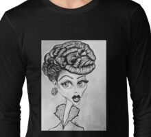 Lucille Ball Caricature Long Sleeve T-Shirt