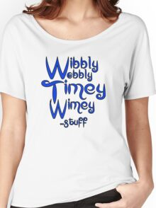 Wibbly Wobbly Timey Wimey... stuff 2 Women's Relaxed Fit T-Shirt