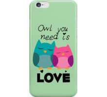 Owl You Need Is Love iPhone Case/Skin