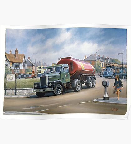 Scammell Highwayman tanker. Poster