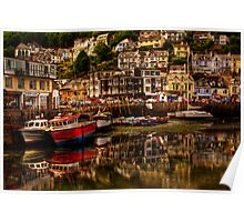 Looe Harbour Poster