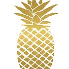 gold foil pineapple by ahclock