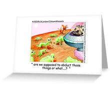 When Cows Ruled Space by Londons Times Cartoons Greeting Card