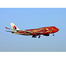 Malaysian Boeing 747 Approach Perth Photographic Print