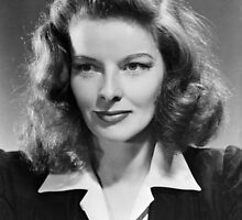Katharine Hepburn, actress, 1941 by JoAnnFineArt