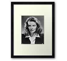 Katharine Hepburn, actress, 1941 Framed Print