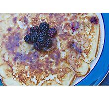 Blackberry Pancake Photographic Print