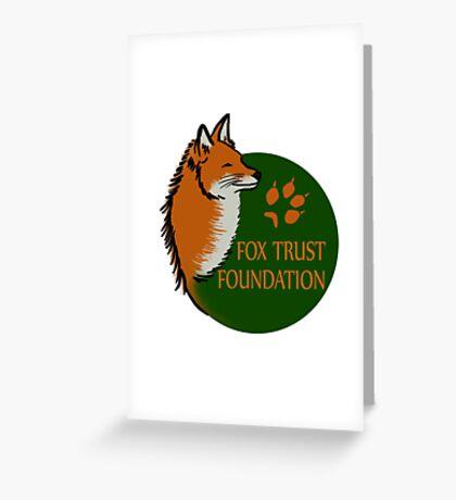 Fox Trust Foundation Logo Greeting Card