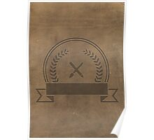 Leather Badge Poster