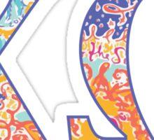 Chi Omega Sun Print Letters Sticker