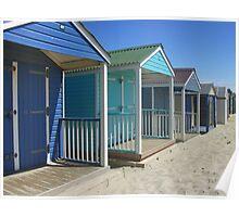 beach huts colour Poster