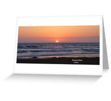 Sunset over Moonstone Greeting Card