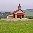 Old schoolhouse at San Simeon, Ca. by luv2hike