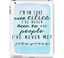 john green iPad Case/Skin