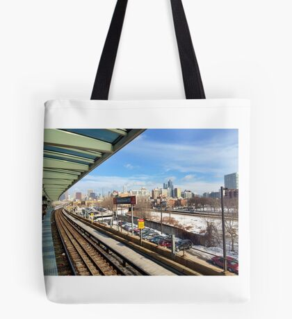 Chicago Chinatown L Stop Tote Bag
