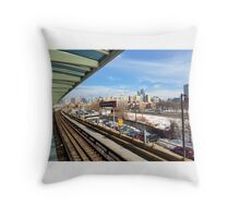 Chicago Chinatown L Stop Throw Pillow