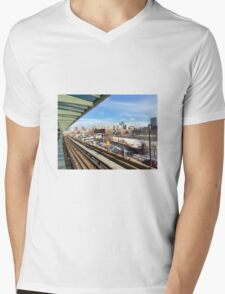 Chicago Chinatown L Stop Mens V-Neck T-Shirt