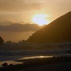 Sunset on Pheiffer Beach by tom j deters
