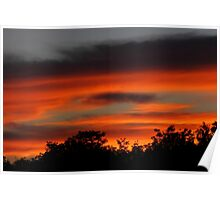 Sunset clouds #4  Poster