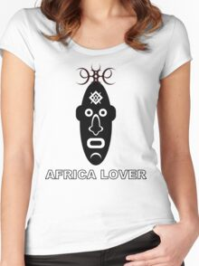 Africa Lover Tee Women's Fitted Scoop T-Shirt
