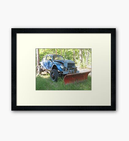 My Brother's Snowplow Framed Print