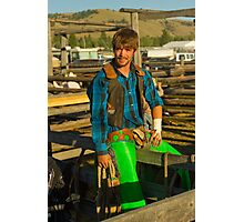 Colorful Cowboy Photographic Print