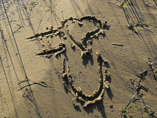 Message In The Sand by Tracy Wazny