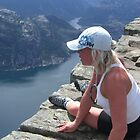 Watching  the fjord from above by Annbjørg  Næss