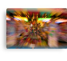 Slow shutter speed zoom burst effect at the Fair Canvas Print