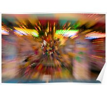 Slow shutter speed zoom burst effect at the Fair Poster