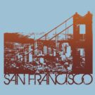 San Francisco Skyline T-shirt Design by FlagSilhouettes