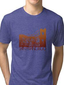 San Francisco Skyline T-shirt Design Tri-blend T-Shirt