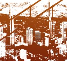 San Francisco Skyline T-shirt Design Sticker