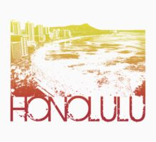 Honolulu Skyline T-shirt Design by FlagSilhouettes