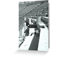 Silent stadium Greeting Card