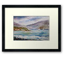 Irish shoreline Framed Print