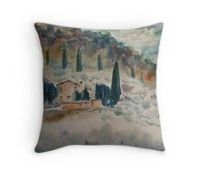 Fog in Tuscany Throw Pillow