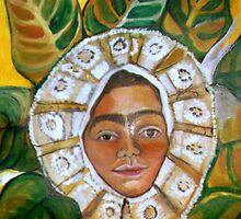 Frida Dressed Up in Oaxca Dress by Ruth OLIVAR MILLAN