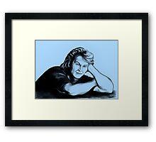 Patrick Swayze : just taking a break Framed Print
