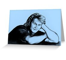 Patrick Swayze : just taking a break Greeting Card