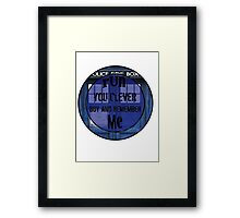 Doctor who - Clara Oswin Oswald Framed Print