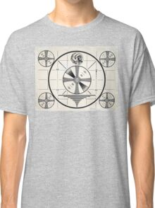 Retro TV Monoscope Test Pattern Classic T-Shirt